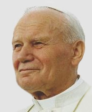English: Pope John Paul II on 12 August 1993 in Denver (Colorado) Polski: Papież Jan Paweł II 12 sierpnia 1993 roku w Denwer (Colorado) Data 12 sierpnia 1993(1993-08-12) Źródło Public Papers of the Presidents of the United States - Photographic Portfolio--1993 Vol. II http://www.access.gpo.gov/nara/pubpaps/1993portv2.html Autor Retouch of Image:JohannesPaulII.jpg by User:Ejdzej