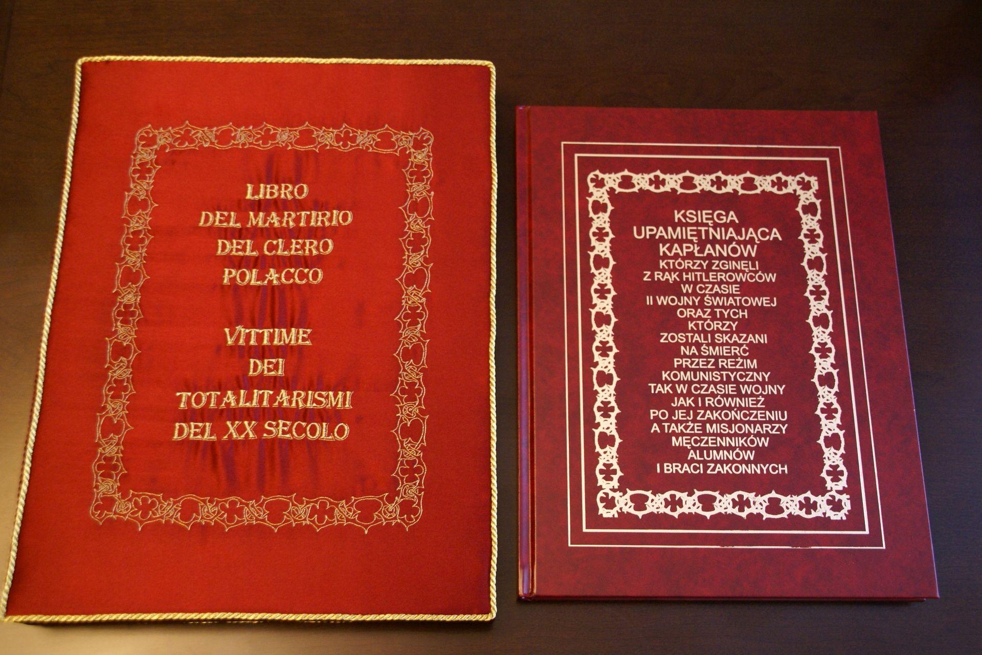 księga upamiętniającą kapłanów - męczenników II wojny światowej i reżimu komunistycznego, a także misjonarzy, którzy zginęli na misjach.