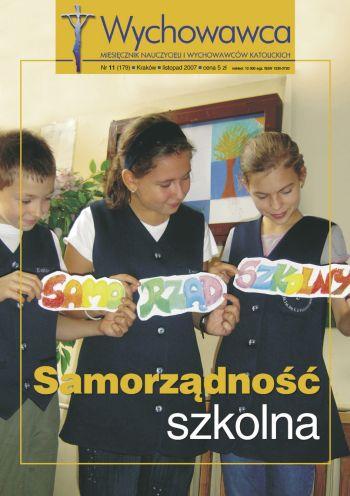 Samorządność szkolna - Wychowawca 11/2007