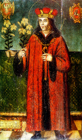 Św. Kazimierz Jagiellończyk (1458–1484)* Picture by unknown artist ca. 1520* Lithuanian Art Museum, Vilnius. pl.wikipedia