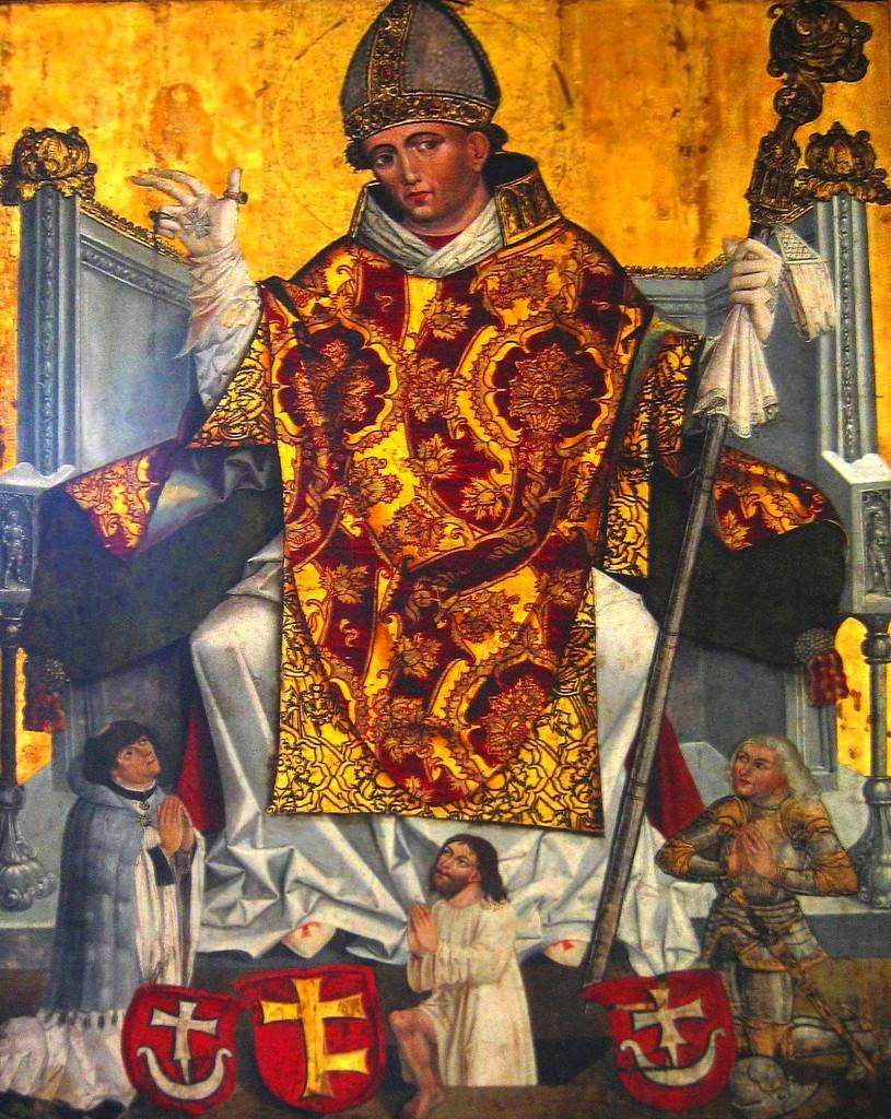 Saint Stanisław of Kraków on the painting from XVI century image taken by user:Mathiasrex Maciej Szczepańczyk. Ten plik udostępniony jest na licencji Creative Commons Uznanie autorstwa 3.0. pl.wikipedia