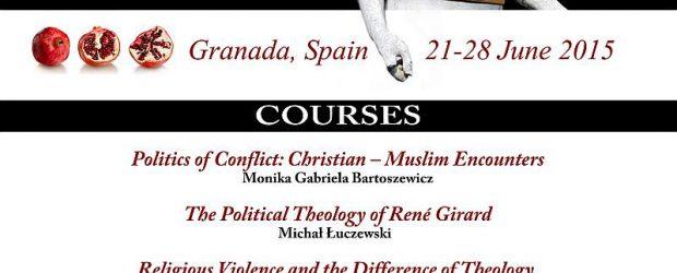 """W dniach 21-28.06.2015 w Granadzie odbędzie się kolejna edycja International Summer School Beyond Secular Faith. Tematem przewodnim w tym roku będzie """"Religious Violence"""", a szczególnie przyjrzymy się kwestiom związanym z […]"""
