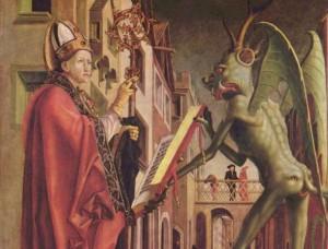 Santo Agostinho encontra-se com um demônio. Fot Wikipedia